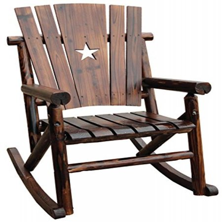 Fabulous Leigh Country Char Log Single Rocker With Star Short Links Chair Design For Home Short Linksinfo