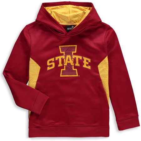 Iowa State Cyclones Youth Shattered Poly Pullover Hoodie - Cardinal