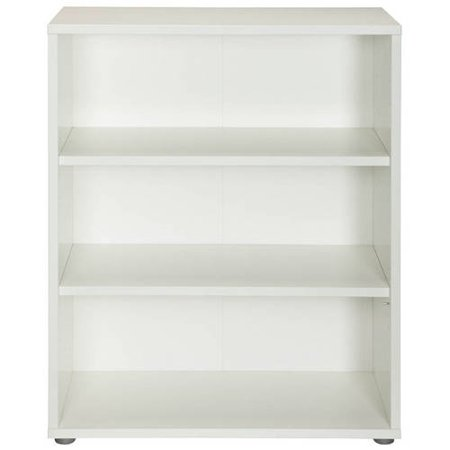 pierce 2 shelf bookcase white. Black Bedroom Furniture Sets. Home Design Ideas