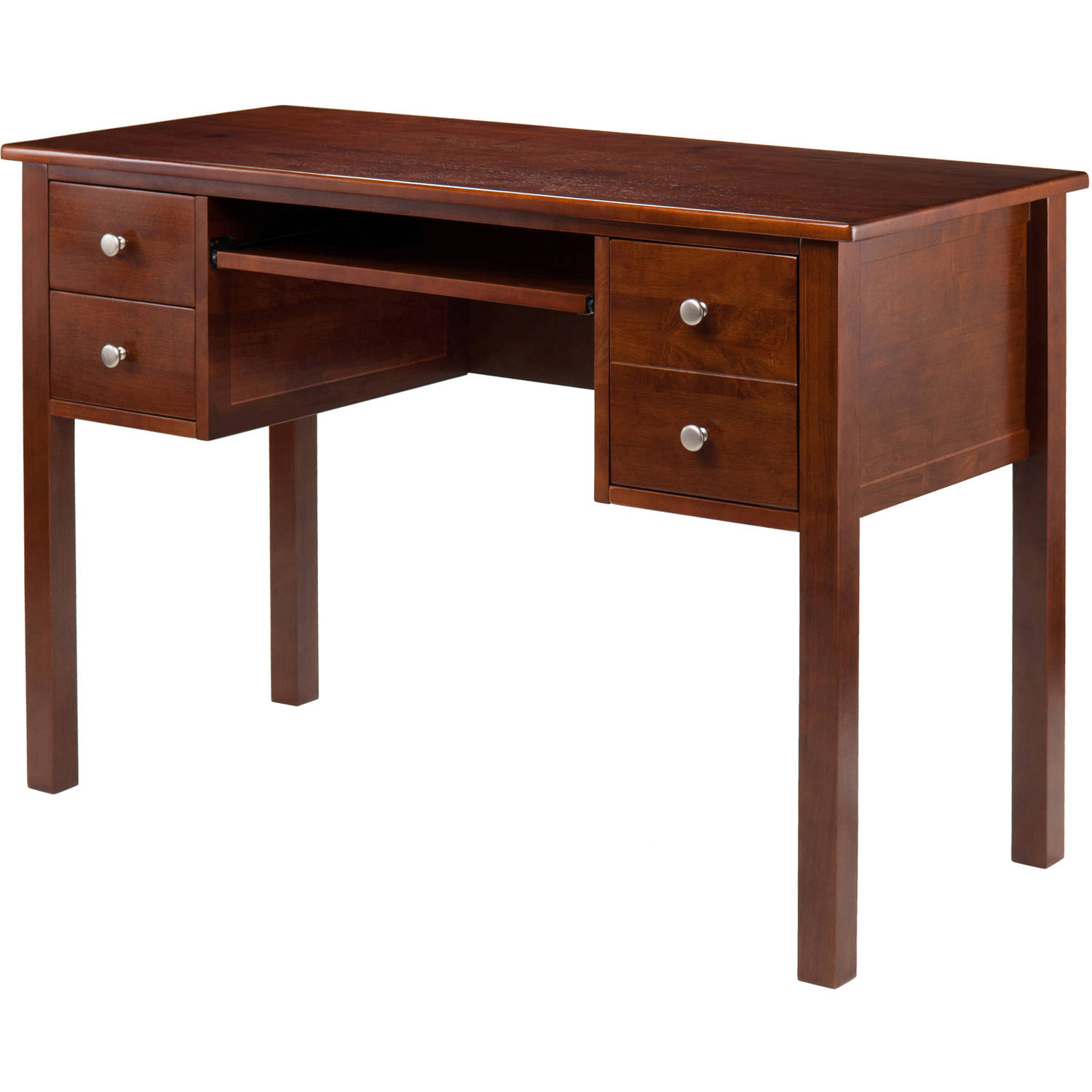 Winsome Emmett Writing Desk with Pull Out Keyboard - 2 Drawers - 1 File Drawer