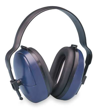 ELVEX HB-25 Ear Muff, 25dB, Headband, Black/Blue