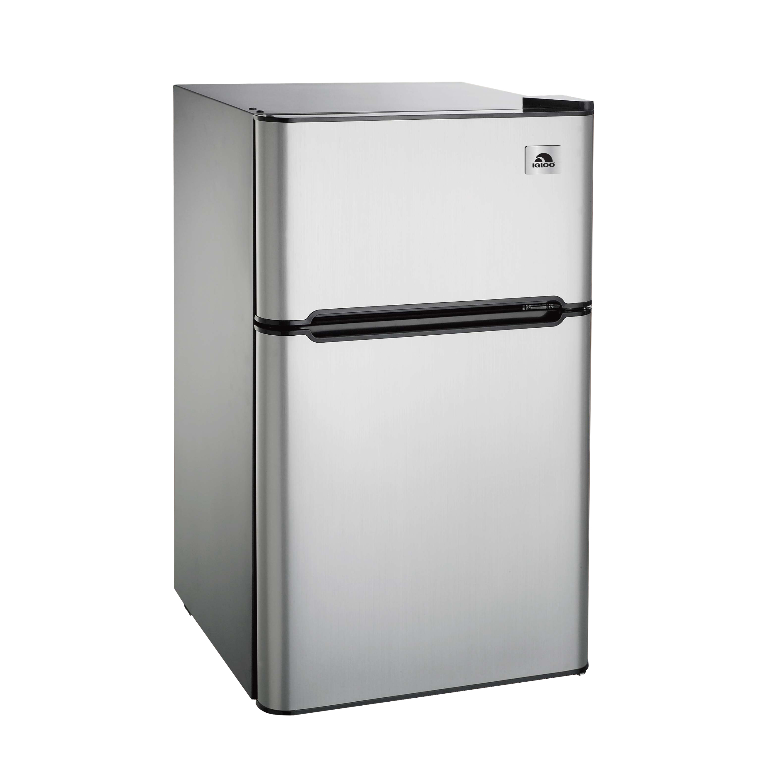 Igloo 3.2 cu. ft. 2-Door Refrigerator and Freezer, Stainless Steel