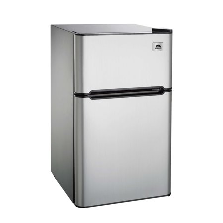 Igloo 3.2 cu ft 2-Door Refrigerator and Freezer, Stainless Steel