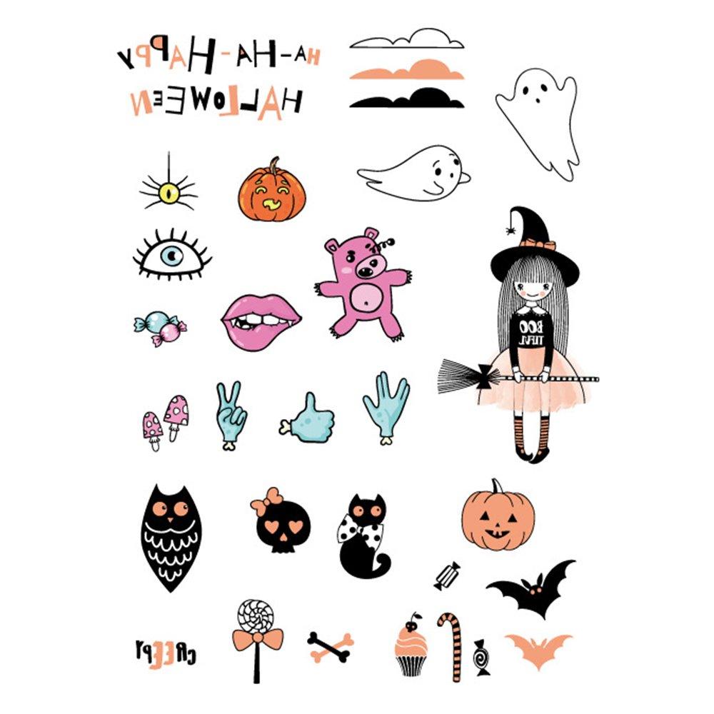 Halloween Temporary Luminous Tattoo Stickers Beauty Decal