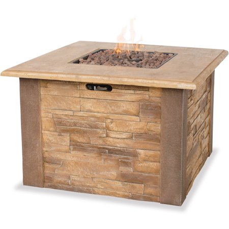 Uniflame Lp Gas Faux Stacked Stone Fire Pit Table