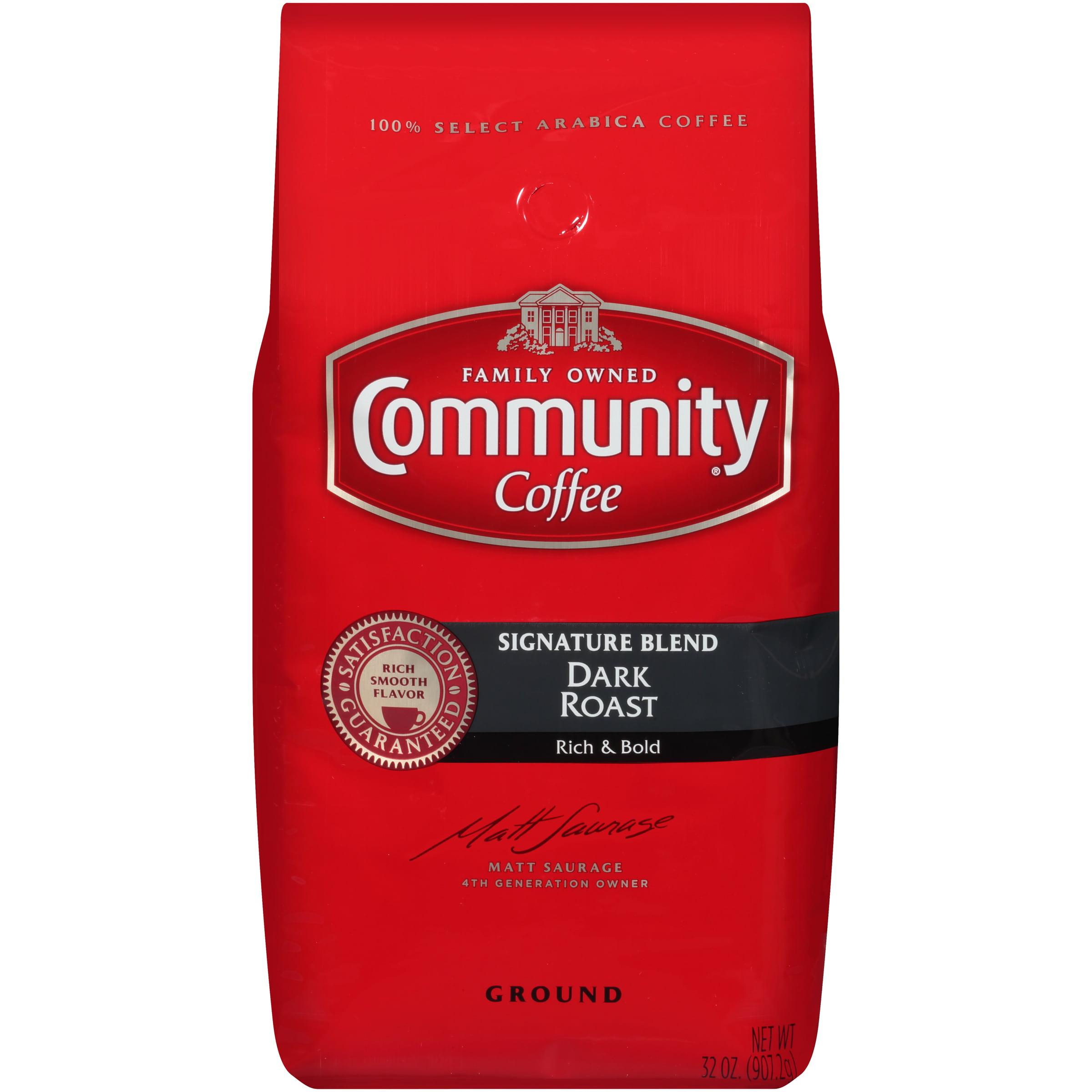 Community Coffee® Signature Blend Dark Roast Ground Coffee 32 oz. Bag