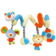 Labebe Car Seat Toy, Hanging Toy for Baby with Multicolor Bear & Mouse, Baby Crib Toy Car Seat/Toy Baby Stroller Toy Crib Toy Girl/Boy/Baby Toy Crib/Activity Spiral Toy/ Baby Toy Car Seat Girl