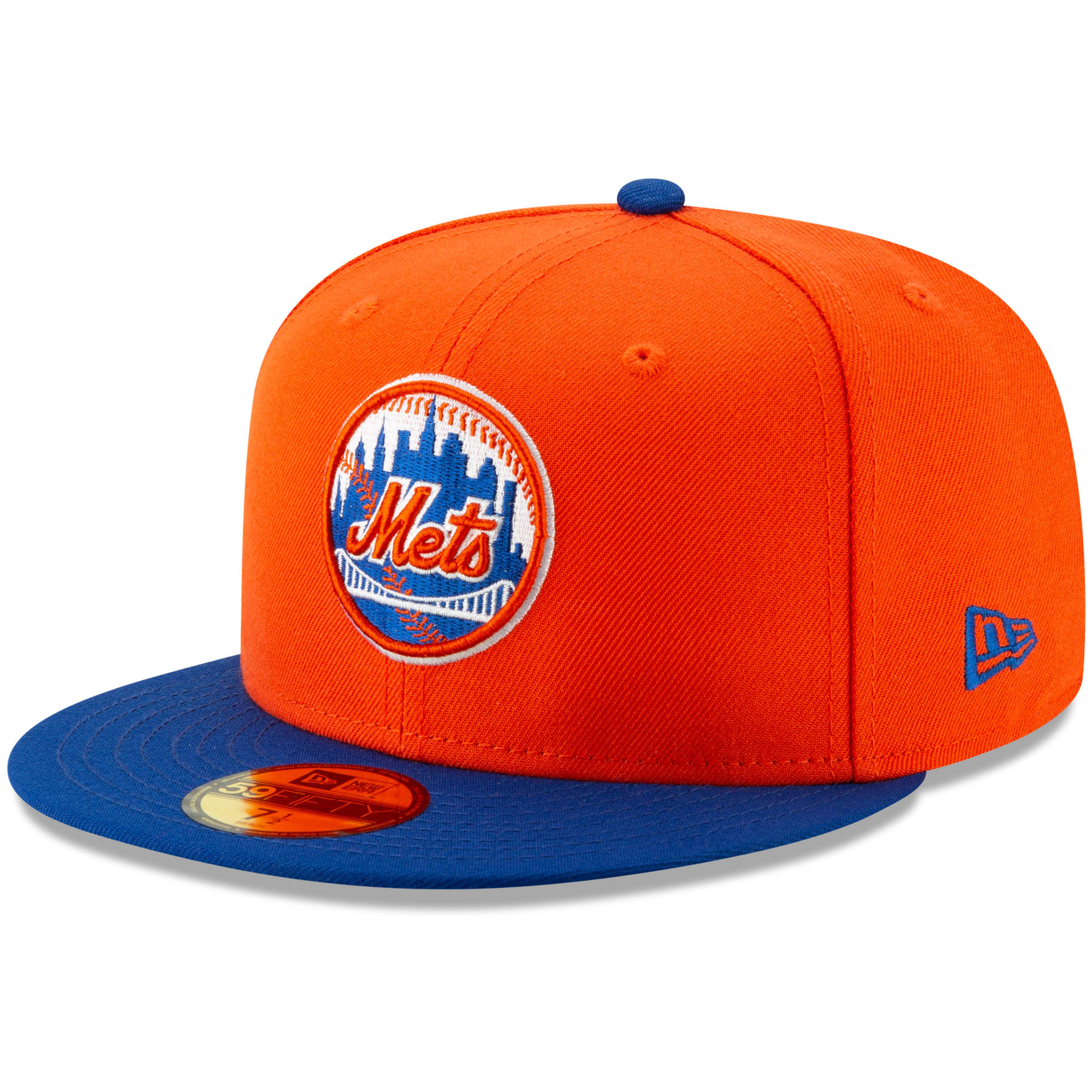 New York Mets New Era Alternate Logo 59FIFTY Fitted Hat - Orange