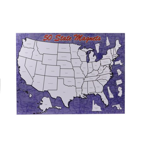 United States Map Magnets.United States Us State Magnetic Map Fridge Magnet Collectors Board