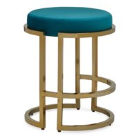 MoDRN Glam Marni Backless Counter Stool, Multiple Colors