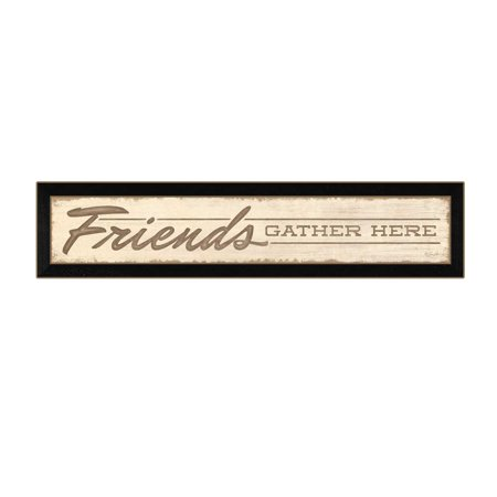 """Friend a Gather Here"" by Lauren Rader Printed Framed Wall Art - image 2 de 2"