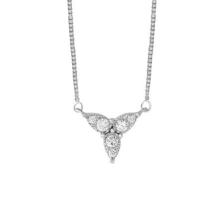 Sterling Silver 1/6 CTTW Diamond Trifoglio