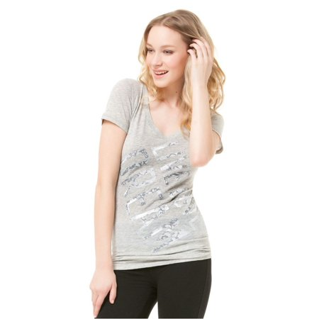 Aeropostale Juniors Lace Glitter Embellished T-Shirt 052 M - Juniors