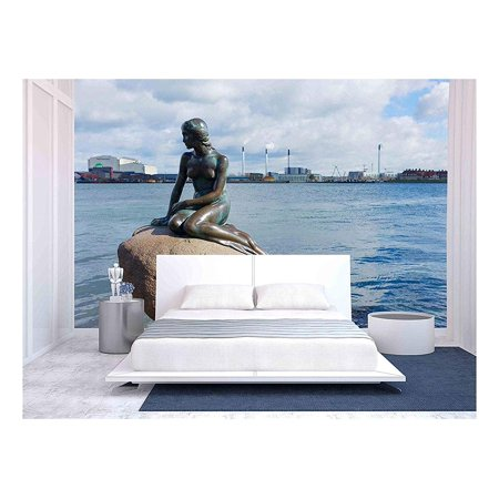 wall26 - The Little Mermaid,The Statue Symbol of Copenhagen - Removable Wall Mural | Self-Adhesive Large Wallpaper - 66x96 inches