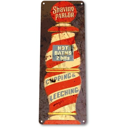 Barbershop Led Sign (TIN SIGN B843 Shaving Parlor Barber Shop Cottage Razor Shave Rustic Metal Decor, By Tinworld)