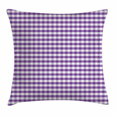 New Style Checkbook Cover (Checkered Throw Pillow Cushion Cover, Purple and White Colored Gingham Checks Rows Picnic Theme Vintage Style Print, Decorative Square Accent Pillow Case, 18 X 18 Inches, Purple White, by)