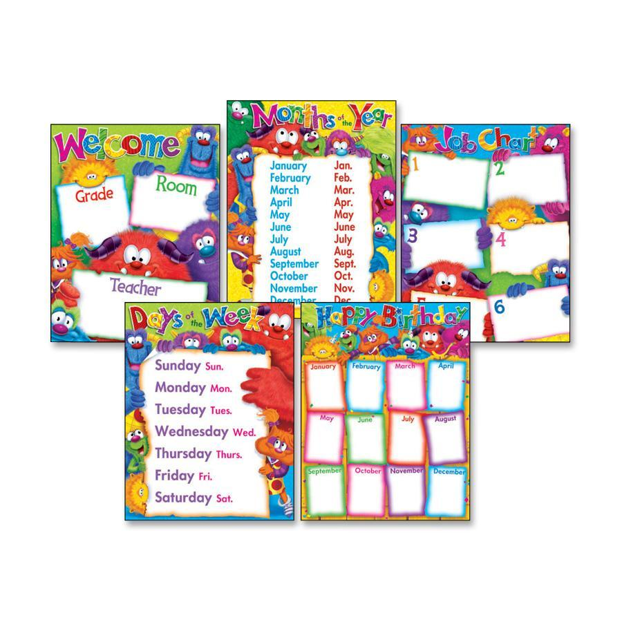 Trend Classroom Basics Furry Friends Chart Combo, Assorted
