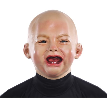 Crying Baby Mask Crybaby Face Creepy Infant Angry Sad Funny PVC - Baby Bane Mask