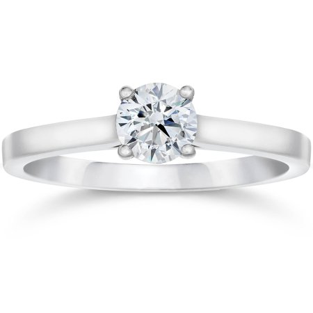 5/8ct Round Solitaire Diamond Engagement Ring 14 White Gold With Accents Jewelry - image 3 of 3