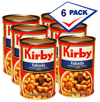 Kirby Spanish Fabada 15 oz each. Pack of 6