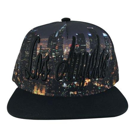 Los Angeles Extra Large Script Overview Snapback Hat Cap by CapRobot -  Black - Walmart.com 9aa95e49f16