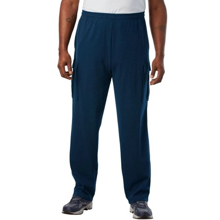 Kingsize Men's Big & Tall Lightweight Cargo Sweatpants (Tall Mens Sweatpants)
