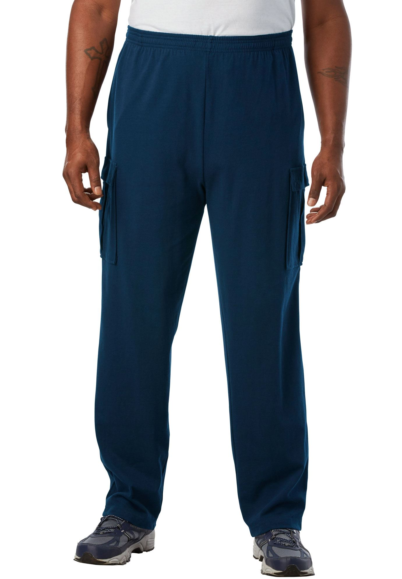 Kingsize Men's Big & Tall Lightweight Cargo Sweats