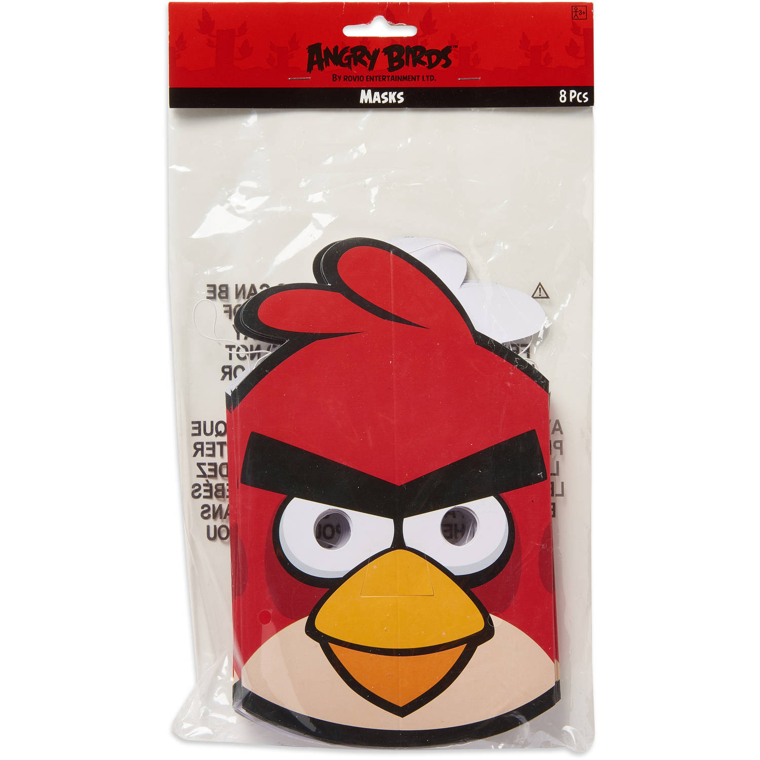 Angry Birds Party Masks, 8ct