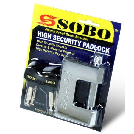 SOBO 60mm Jimmy Proof Lock, Keyed Alike per 2 Pack
