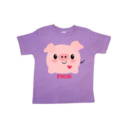 Kawaii I Love Pigs Toddler T-Shirt