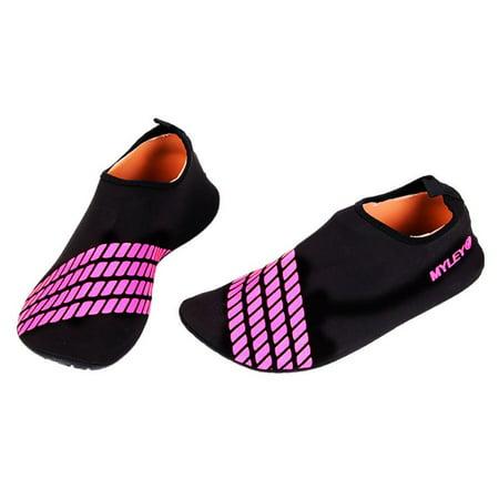 Men Women Skin Water Shoes Exercise Surf Pool Beach Swim Slip On Aqua Socks