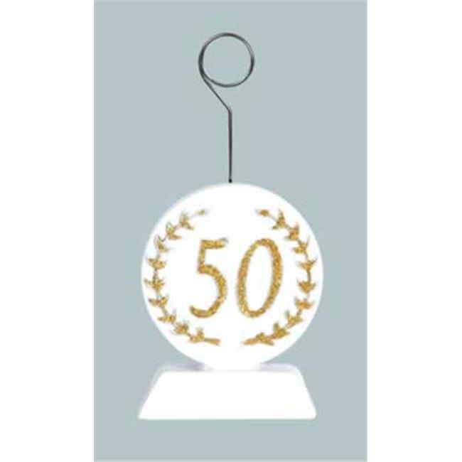 Beistle 50486 Gold Glittered  50  Photo And Balloon Holder - Pack of 6