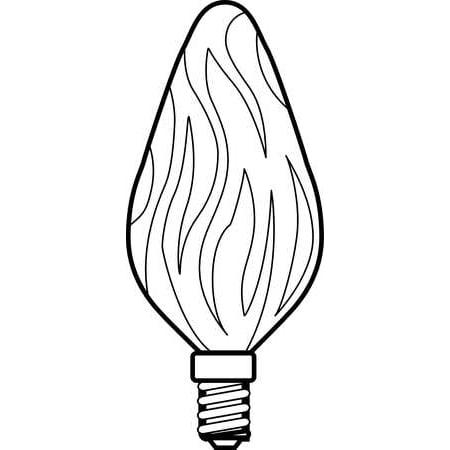 GE LIGHTING Incandescent Light Bulb,F10,15W,PK2 15FC/AU CD 2