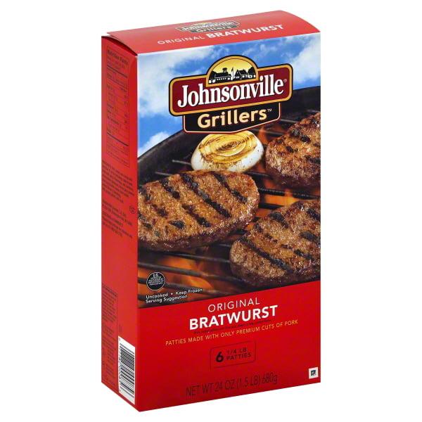 Johnsonville Grillers Original Brat Patties, 6 ct, 1.5 lb