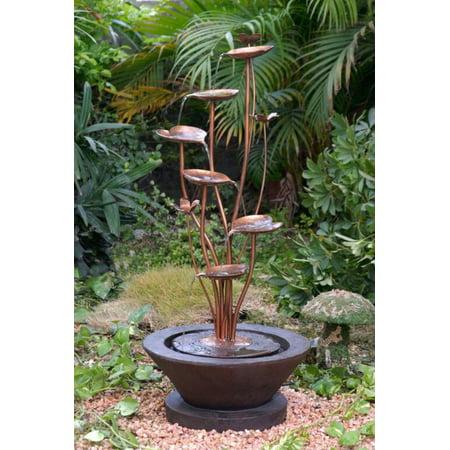 38 Artful Iron Look Blooming Lotus Flower Outdoor Patio Garden
