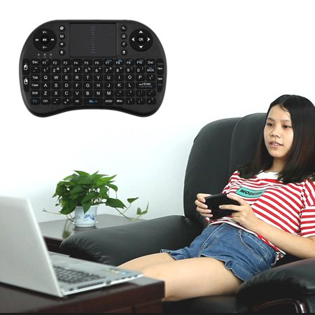 Mini Wireless Keyboard 2.4G with Touchpad Handheld Keyboard for PC Android TV 1-Pack