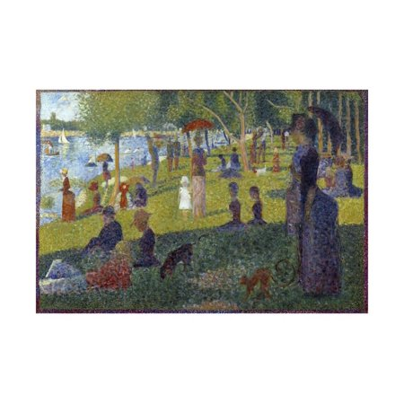 Study for a Sunday on La Grande Jatte - by Georges Seurat Print Wall (George Seurat A Sunday On La Grande Jatte)