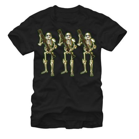 Star Wars Men's Halloween Stormtrooper Skeletons T-Shirt