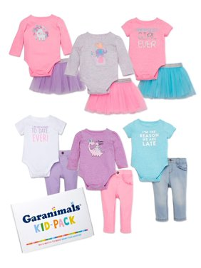 Garanimals Baby Girl Mix & Match Outfits Kid-Pack Gift Box, 12-pc Set