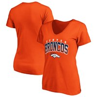 Women's Fanatics Branded Orange Denver Broncos Faded Arch V-Neck T-Shirt