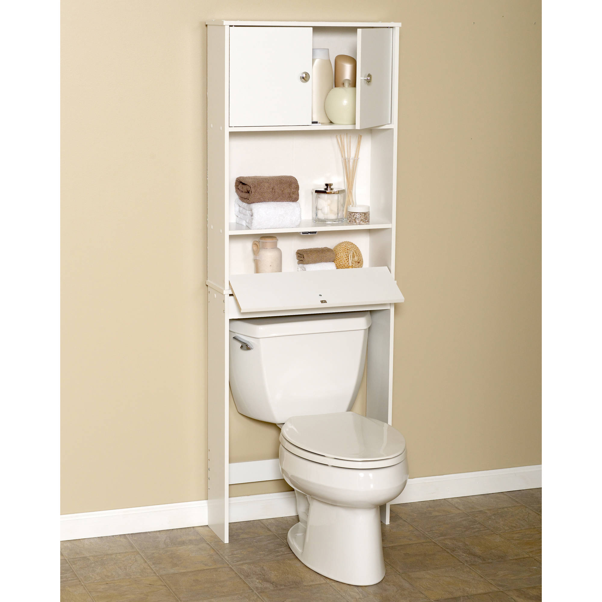 Zenith 9401W Drop Door Space Saver Bathroom Cabinet, 23 in W x 7.38 ...
