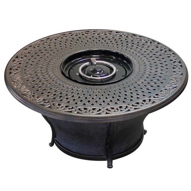 "TK Classics TKC Charleston 48"" Round Gas Fire Pit Table i..."