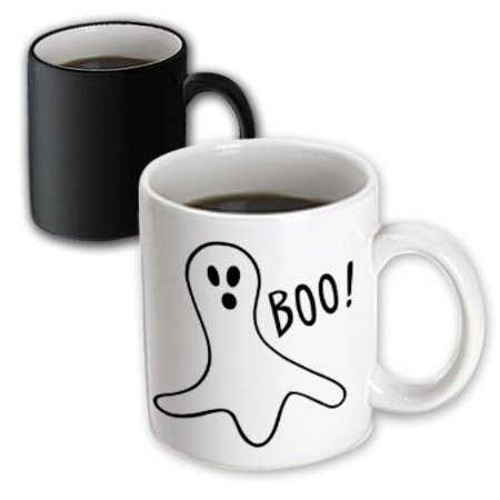 3dRose Halloween Boo Ghost, Magic Transforming Mug, 11oz](Halloween Mud Pies)