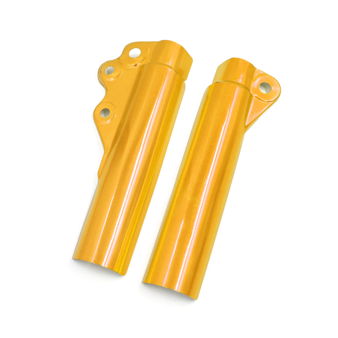 Pair Gold Tone Aluminum Alloy Motorcycle Front Shock Absorber Cover Protector