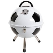 """Soccer Ball 12"""" BBQ Grill - White - Powder Coating - PP Handle - Steel"""