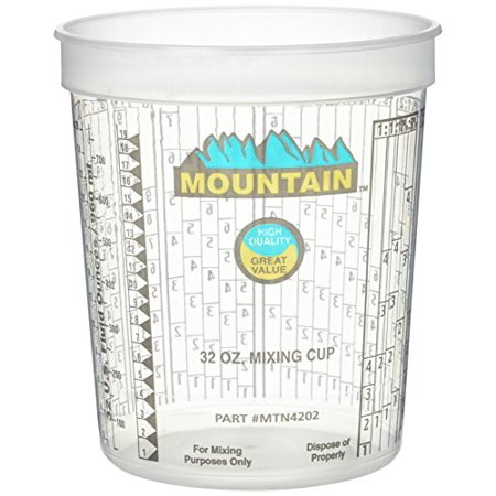 Mountain MTN4202 Disposable Quart Mixing Cup ((100 per case)) - image 1 of 1