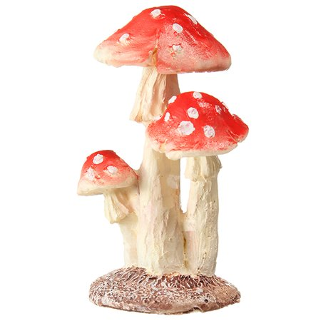 3 Types Mini Mushroom Toadstool Garden Landscape Ornaments Ideal For Plant Pots Fairy Garden ()