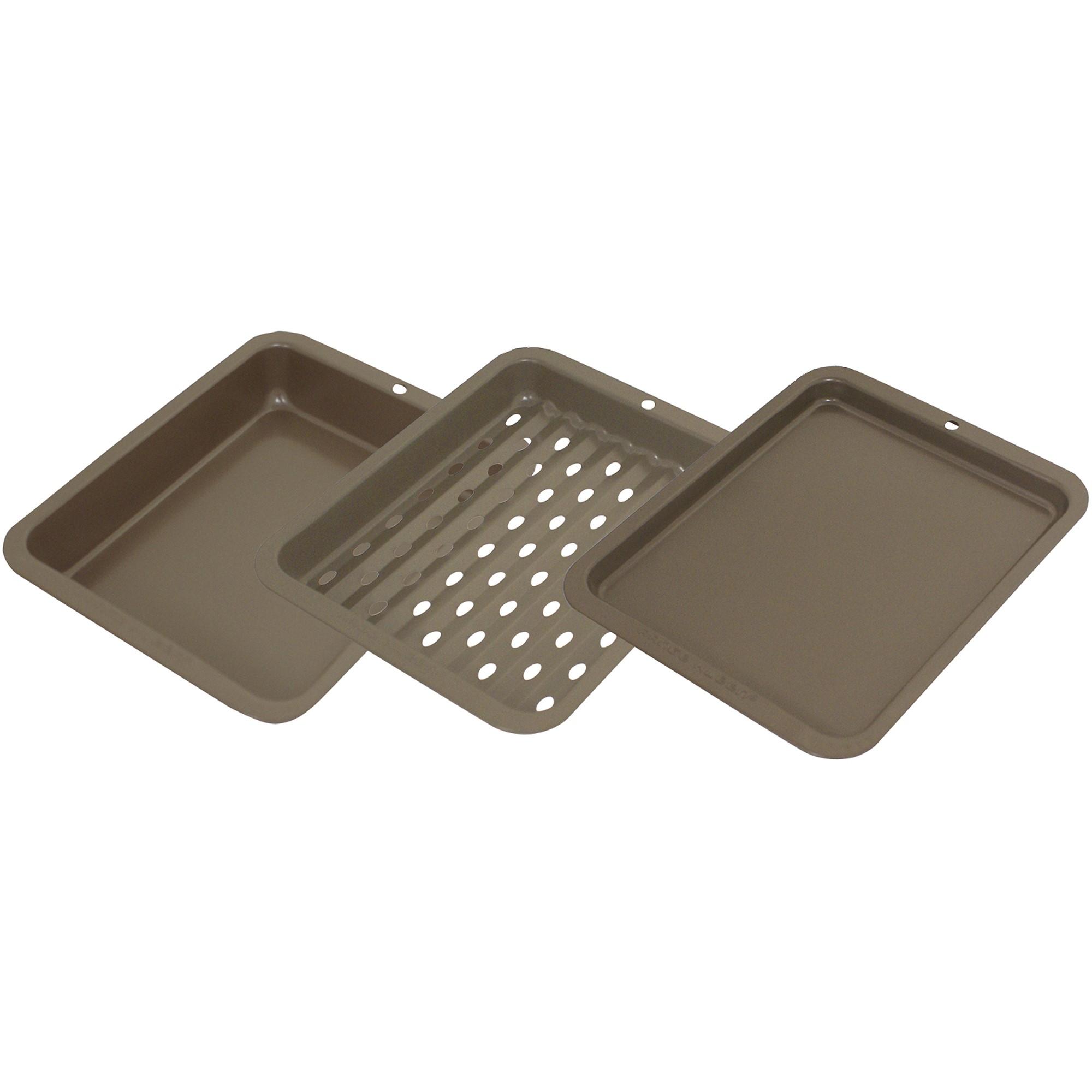 Range Kleen 3-Piece Non-Stick Toaster Oven Bakeware Set