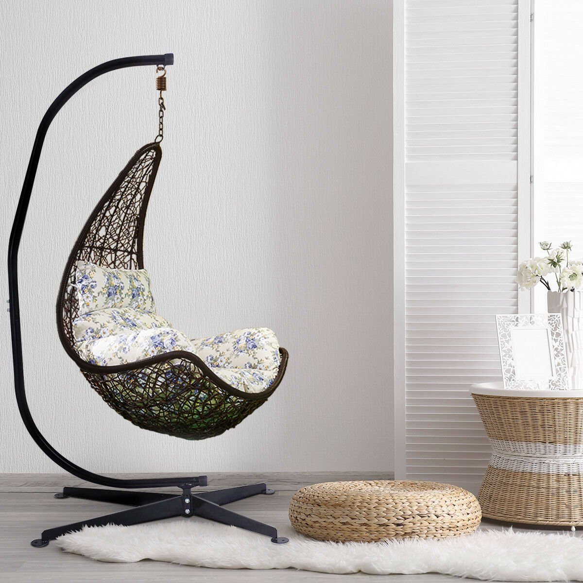 C Shaped Hammock Frame Stand Solid Steel Construction For Hanging Swing Chair