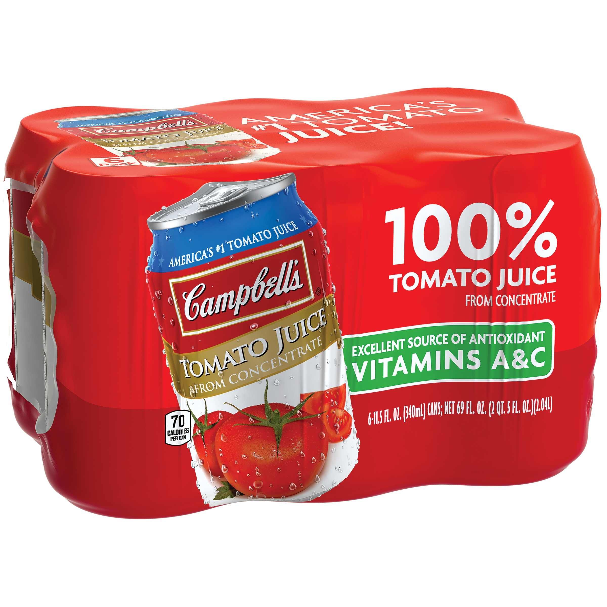 Campbell's Tomato Juice 11.5oz 6pk Cans by Campbell's